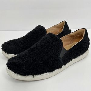 UGG Women's Ricci Black Fuzzy Slip On Sneaker 10